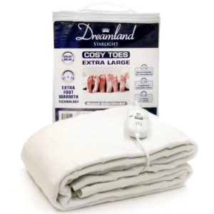 Dreamland Cosy Toes Extra Large Double Under Blanket - White