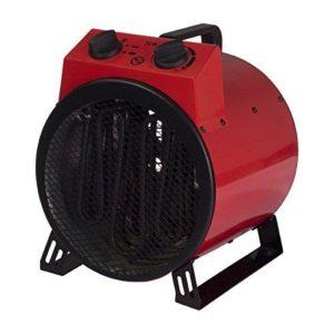 Igenix Commercial Drum Fan Heater, 3 kW, Red