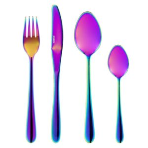 Tower 16Pce Titanium-Coated S/Steel Cutlery Set with Iridescent Finish