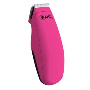 Wahl Pocket Pro Hair Trimmer Battery Black Rubberised - Pink