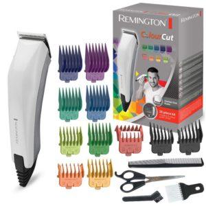 Remington Colour Cut Men Hair Clipper Corded With Accessories 16 Pc Kit