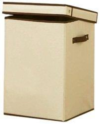 H & L Russel Creme Folding Laundry Box 31 x 31 x 45cm