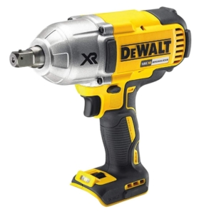 Dewalt High Torque Impact Wrench 18V Cordless Brushless (Body Only), 18 V, Yellow/Black, Bare Unit
