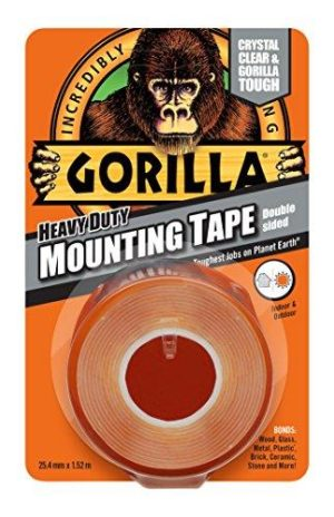 Gorilla Tape 3044101 Heavy Duty Double Sided Mounting Tape - 1.5m x 48mm
