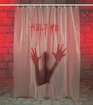 Premier Halloween 'Help Me' Gory Bloody Shower Curtain