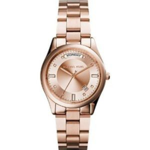 Michael Kors 34mm Gold Plated Stainless Steel Case Rose Gold Women's Watch