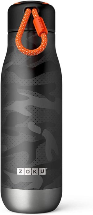 Zoku Vacuum insulated Stainless Steel Water Bottles - Camo Black