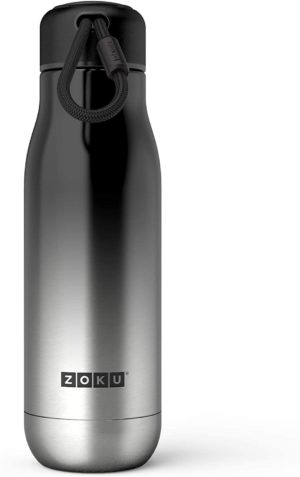 Zoku Vacuum insulated Stainless Steel Water Bottles - Platinum Ombre