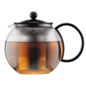 Bodum Assam Tea Press With Stainless Steel Filter 1.0 Liters - Black