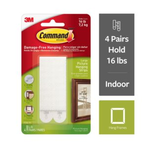 Command Large Picture Hanging Strips, 17206 ( Pack of 1 contains 4 Sets)