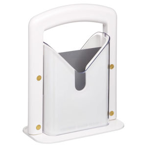 KitchenCraft Bagel Biter Precision Bagel Guillotine - White