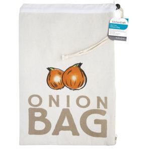 KitchenCraft Stay Fresh Onion Preserving Storage Bag - Beige
