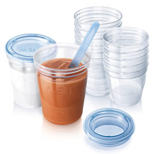 Philips Avent Baby Food Storage Cups, 180/240 ML, Pack of 20