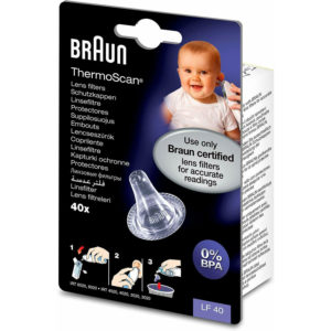 Braun ThermoScan Lens Filters for Ear Thermometers – Pack of 40