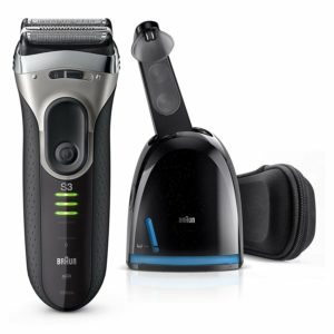 Braun Series 3 3090 Electric Foil Shaver with Cleaner and Charge Station