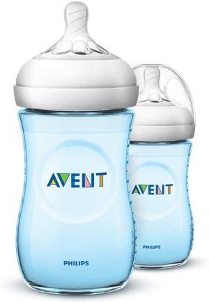 Philips Avent Natural Feeding Bottle Blue Double Pack