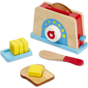 Melissa-&-Doug-Bread-And-Butter-Toaster-9-Pcs-Wooden-Play-Food-And-Kitchen-Accessories-Multicolour-19344-3-Years-And-Up