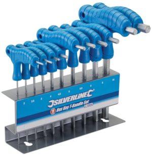 Silverline Hex Key T-Handle Set 2-10 mm - 10 Pieces