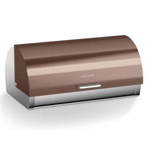 Morphy Richards Accents Bread Bin, Roll Top, Copper