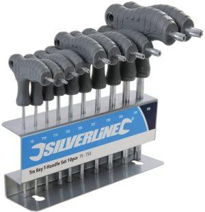 Silverline Tools Trx T-Handle Key Set Size T9 - T50 Set of 10 Piece