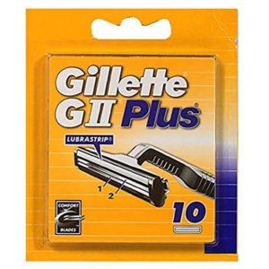 Gillette GII Plus Mens Razor Blades – 10 Refills