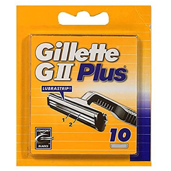Gillette GII Plus Men's Razor Blade Blades - 10 Refills