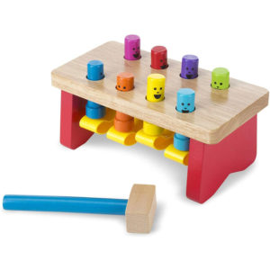 Melissa & Doug Deluxe Pounding Bench Toddler Toy - Multicolour