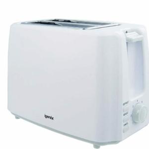 Igenix 2 Slice Toaster Deep Slots, Adjustable Browning Control In White