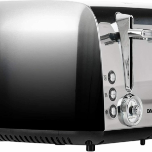 Daewoo Callisto Stainless Steel 4 Slice Toaster Ombre Effect in Silver