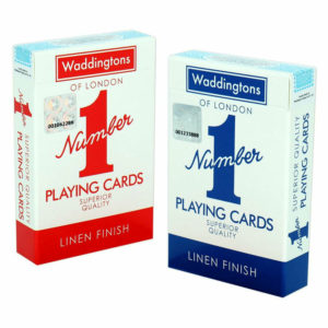 Waddingtons Original Number 1 Classic Playing Cards – Fun For Entire Family – Red or Blue (Colours May Vary)
