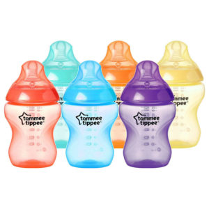 Tommee Tippee Closer to Nature Fiesta Bottles, Slow Flow 0m+, 260 ml – Pack Of 6