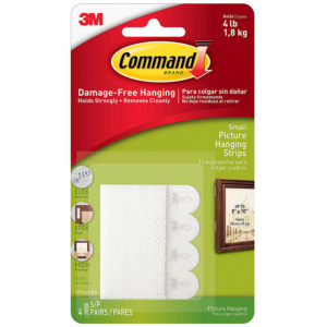 Command Small Picture Hanging Strips 17202 (1 Pack of 4 Sets)