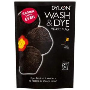 Dylon Wash & Dye Velvet Colours - Black