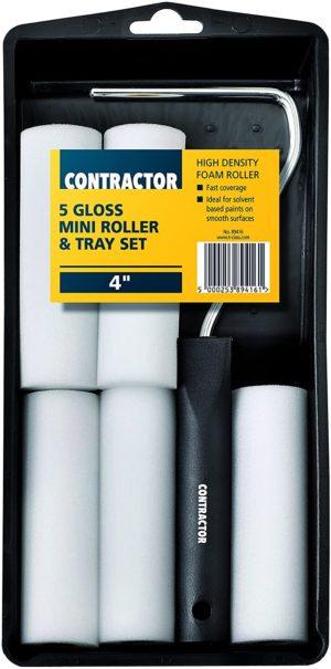 "Harris T-Class Contractor Gloss 5 Mini(4"") Roller Tray Set"