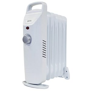 Igenix Portable Oil Filled Radiator, Electric Heater with 3 Heat Settings, Adjustable Thermostat, Overheat Protection, 2000 W, White