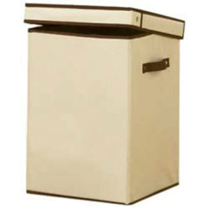 H & L Russel Creme Folding Laundry Box 31 x 31 x 45cm
