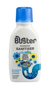 Buster Plughole Sanitiser Foaming Eucalyptus Granules, 300g