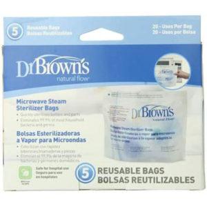 Dr Brown Options Microwave Steriliser Bag (Pack of 5)