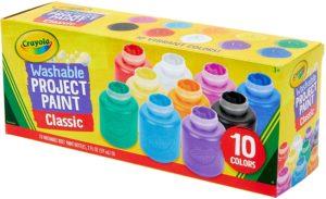 Crayola Washable Kids Paint Set - 10 Colours