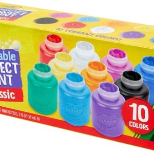 Crayola Washable Kids Paint Set – 10 Colours