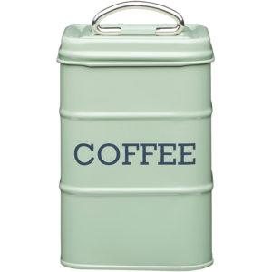 KitchenCraft Living Nostalgia Coffee Storage Canister - English Sage Green