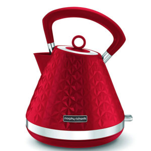 Morphy Richards 1.5L Vector Pyramid & Traditional Kettle Red