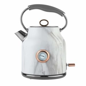 Tower Stainless Steel Kettle, 1.7L in Marble and Rose Gold