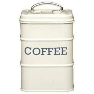 KitchenCraft Living Nostalgia Coffee Storage Canister – Antique Cream