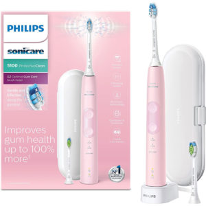 Philips Sonicare ProtectiveClean 5100 Electric Toothbrush with Travel Case – Pastel Pink