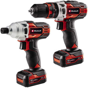 Einhell 12V Combi & Impact Driver Kit - Black And Red
