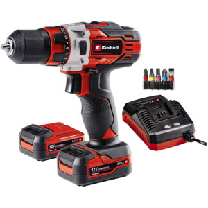 Einhell 12V Drill Driver With Batteries - Black And Red