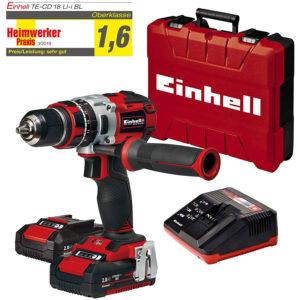 Einhell TE-CD 18 Li-i BL (2×2,0Ah) 18V Cordless Impact Drill Driver (2 x 2Ah Batteries) – Black And Red