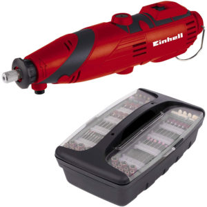 Einhell TC-MG 135 E Grinding And Engraving Tool 135 W With 189 Piece Accessory Kit – Red