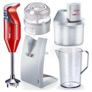 Bamix Superbox Food Processor Hand Blender Stainless Steel 200 W – Red